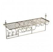 Подвесной бар для кухни 910х300х325, античная бронза