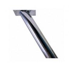 Подпора косая для бара h-170 мм, цвет:  нерж / сталь