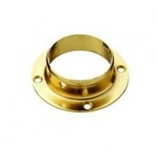 Крепление упор для стола к стойке в низ столешнице (фланец), золото