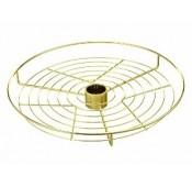 Полка сетка с центральным креплением D=350 для барной стойки, золото