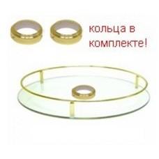 Полка стекло центральная D=450 для барной стойки, золото