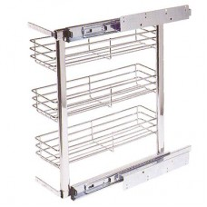 Бутылочница, корзина для кухни в базу 200 мм 3 уровня с  доводчиком