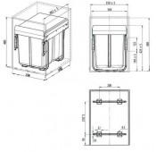 Мусорное ведро с креплением фасада для кухни