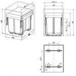 Мусорные ведра для кухни и контейнеры
