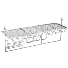 Подвесной бар большой для кухни 920*300*320, хром глянец