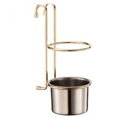 Стакан для столовых приборов на рейлинг, золото