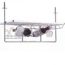 Подвесной бар малый  для кухни 730х300х320, хром глянец
