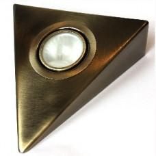 Треугольный светильник для кухни, античная бронза 12В