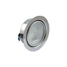 Светильник врезной ХРОМ глянец с лампочкой 12V