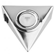 Треугольный светильник для кухни с выключателем, хром глянец 12В