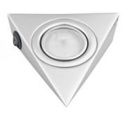 Треугольный светильник для кухни с выключателем, матовый хром 12В