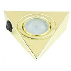 Треугольный светильник для кухни с выключателем, золото 12 Вольт