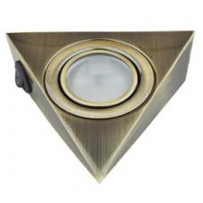 Треугольный светильник для кухни с выключателем, античная бронза 12В